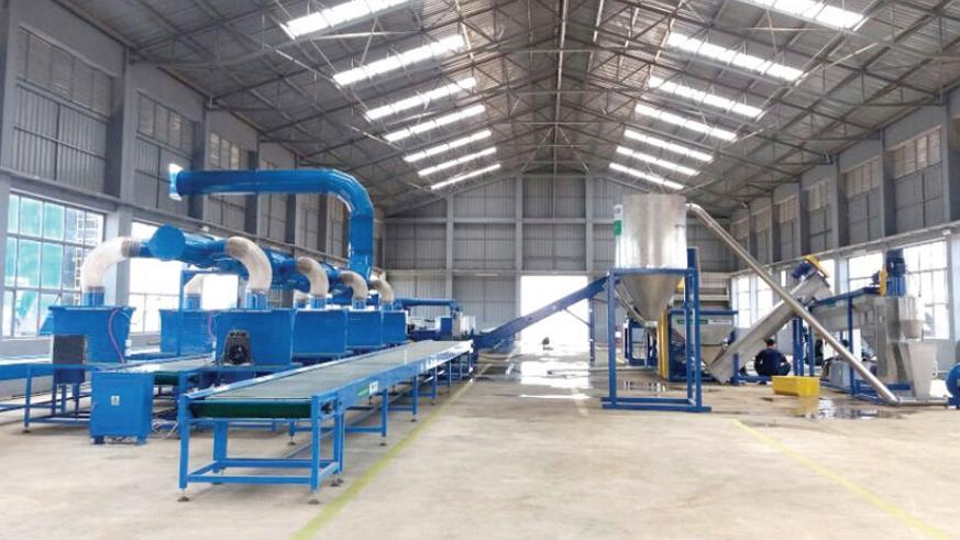 Part of e-Waste recycling plant in Bugesera District. (Courtesy)