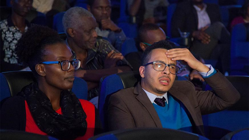 Participants during the movie screening at Century Cinema on Thursday evening. / Nadege Imbabazi