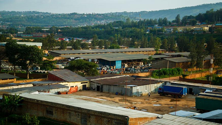 Gikondo Industrial Zone before some of the pictured manufacturing plants were relocated to Kigali Special Economic Zone. Rwanda Environment Management Authority is considering crea....