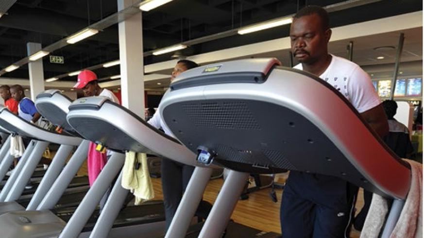 People in a gym in Johannesburg, South Africa. Net photo.