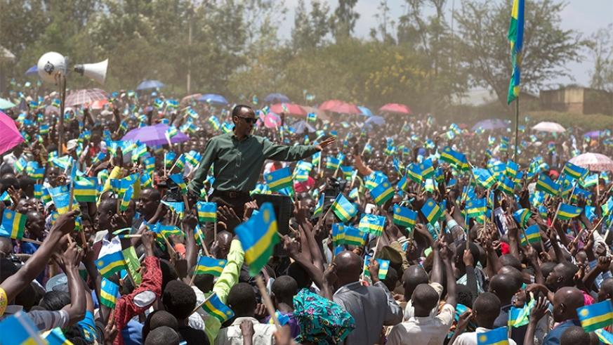 President Kagame is welcomed by residents of Nyagatare in Eastern Province during his tour of the district yesterday. Kagame congratulated the residents on their recent achievement....