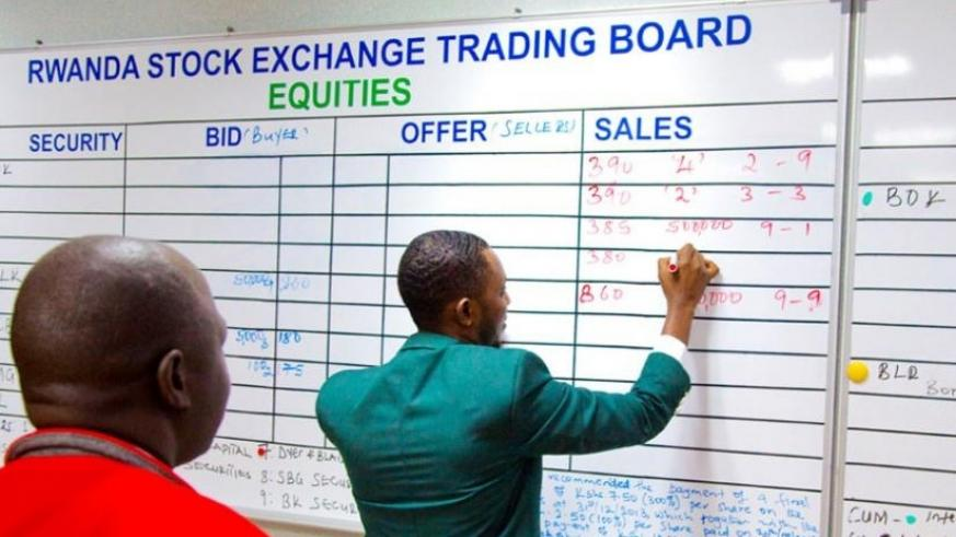 David Mitali, a trading manager at RSE, records deals at a past session. File.