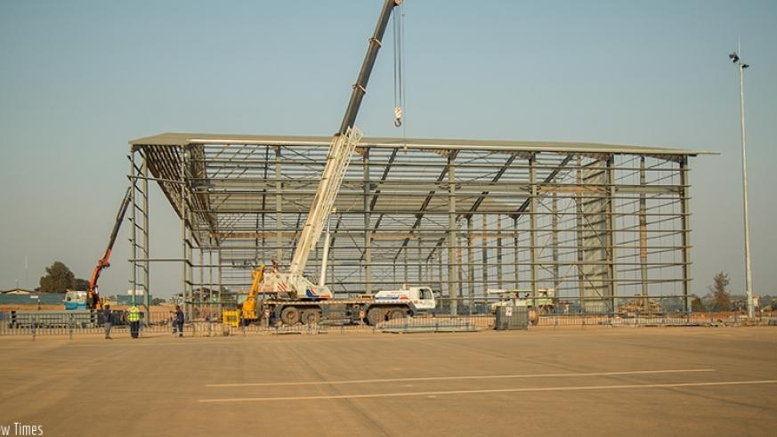 Expansion works at Kigali International Airport last year. File.