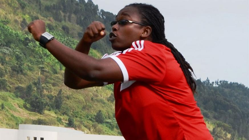 Nyinawumuntu became the country's first female professional football coach in 2008. File.