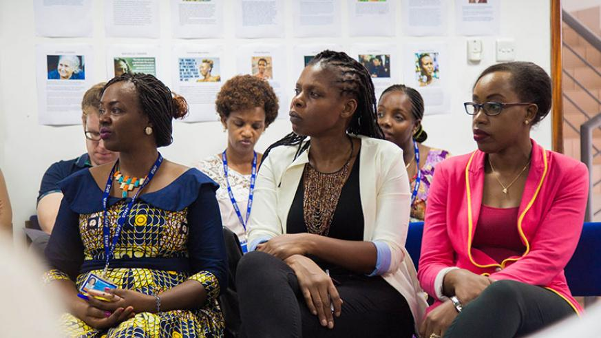 Women listen to one of the guest speakers. / Nadege K. Imbabazi