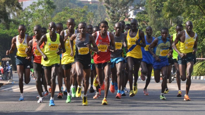 Runners during a past edition. Rwandan athletes have never won the race, which has been dominated by Kenyans in both the men and women categories. File.