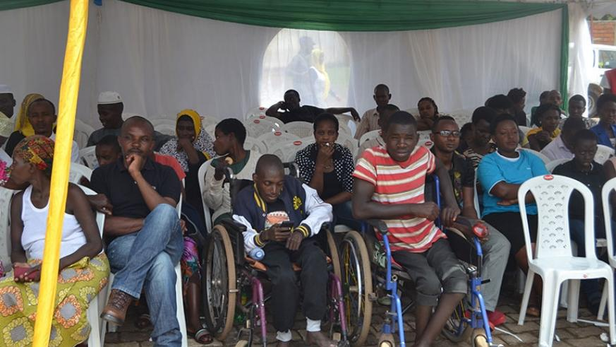 Some of patients during the celebration of World Day of the Sick. Jean d'Amour Mbonyinshuti