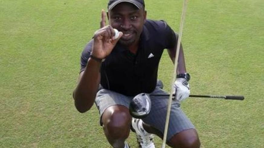 Kigali Golf Club vice president Anthony Olwit, seen here during a previous event, won the 2017 president's cup tournament on Saturday. Courtesy.
