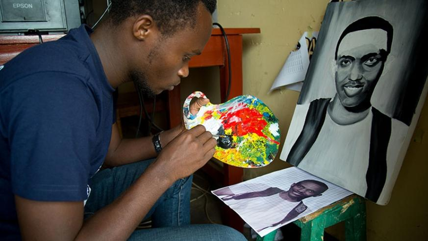 The young entrepreneur was inspired a desire to contribute to job-creation.  / Timothy Kisambira.