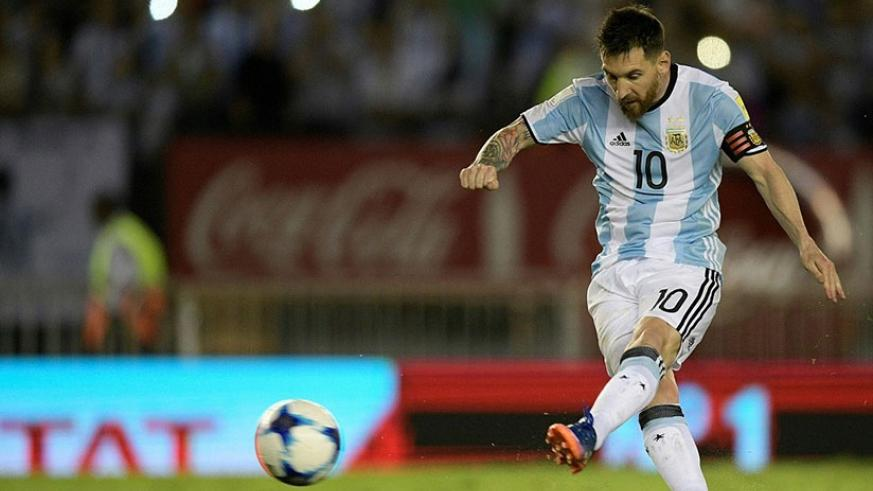 Messi slotted past Claudio Bravo to give his team the lead - 269 days after he missed in the shootout of the Copa America final. Net photo. Net photo.