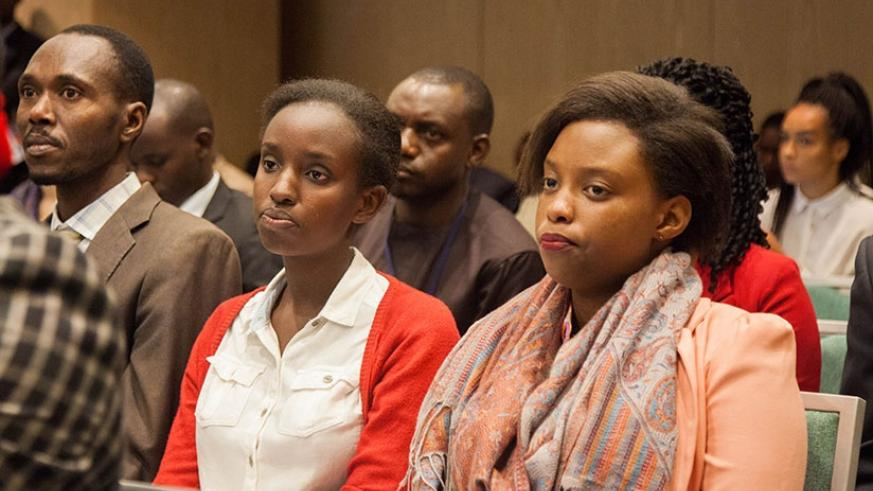 Participants follow proceedings during the report launch in Kigali,Thursday. Nadege Imbabazi.