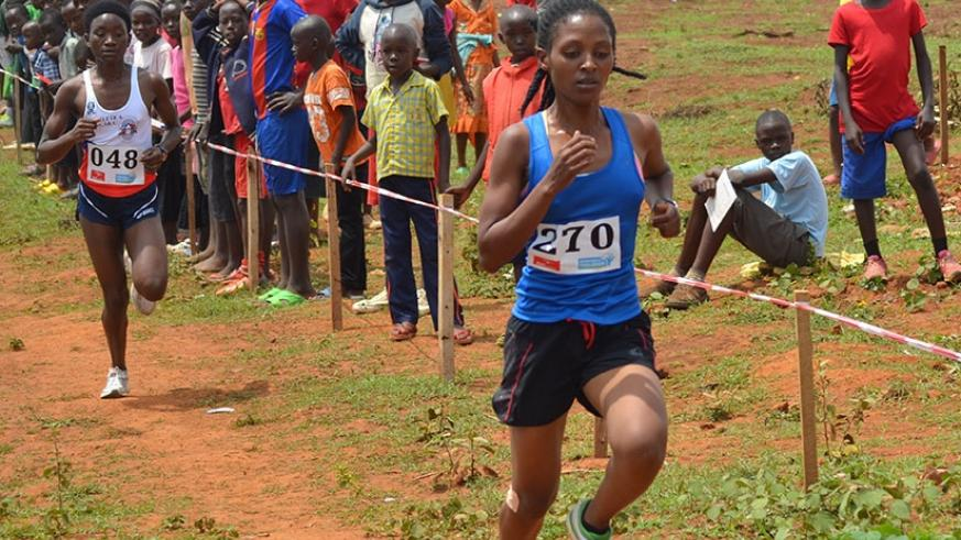 Nyirarukundo (R), who was Rwanda's only podium finisher in last year's edition, is keen to become the first Rwandan athelete to win the annual event. (S. Ngendahimana)