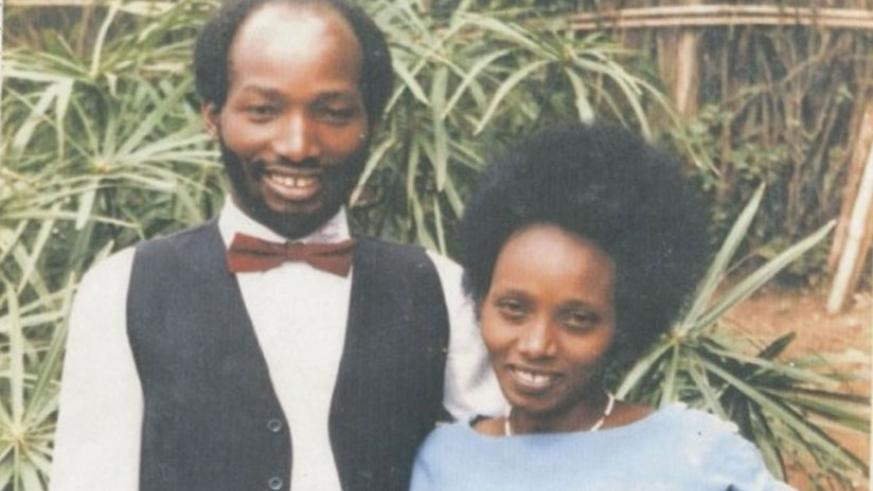 Dieudonne Bizimungu and his wife Agnes Uwimbabazi. (Net)
