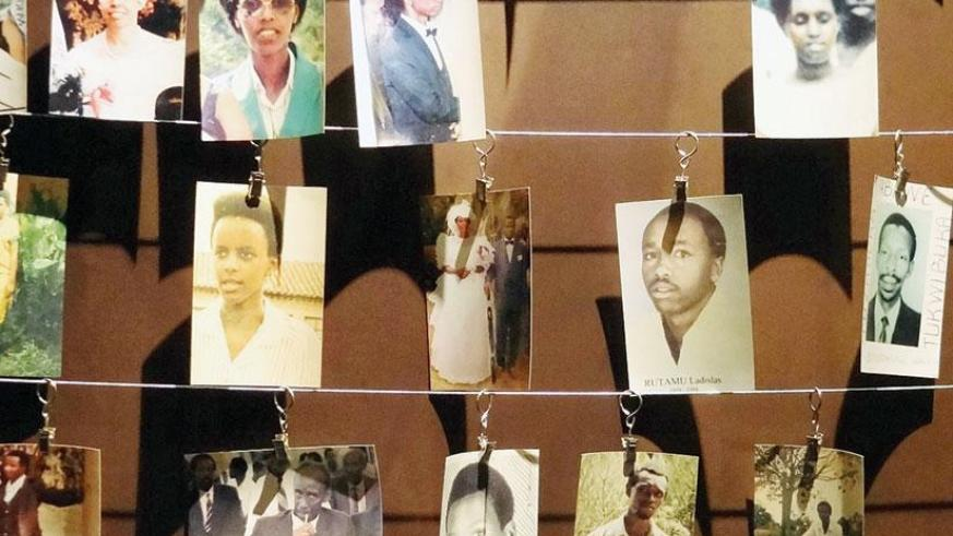Photos of Genocide victims inside Kigali Genocide memorial. (File)