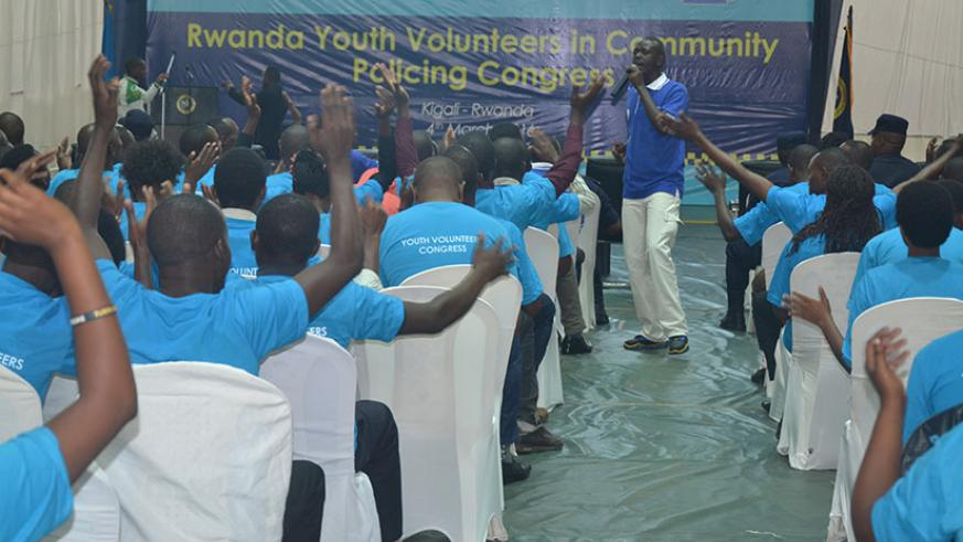 Members of Rwanda Youth Volunteers in Community Policing attending their congress. / Courtesy