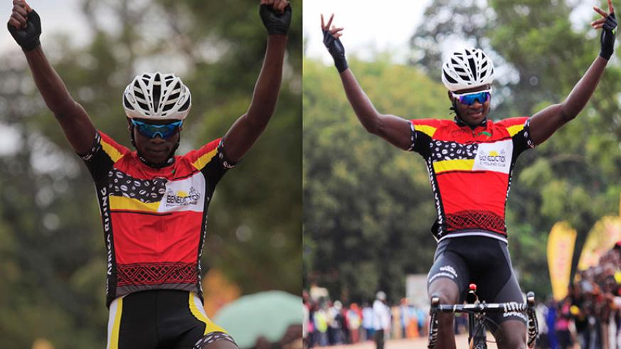 Club Benediction riders Jean Bosco Nsengimana (left) and Bonaventure Uwizeyimana (right) will lead Team Rwanda's roster at the five-day event. / Sam Ngendahimana