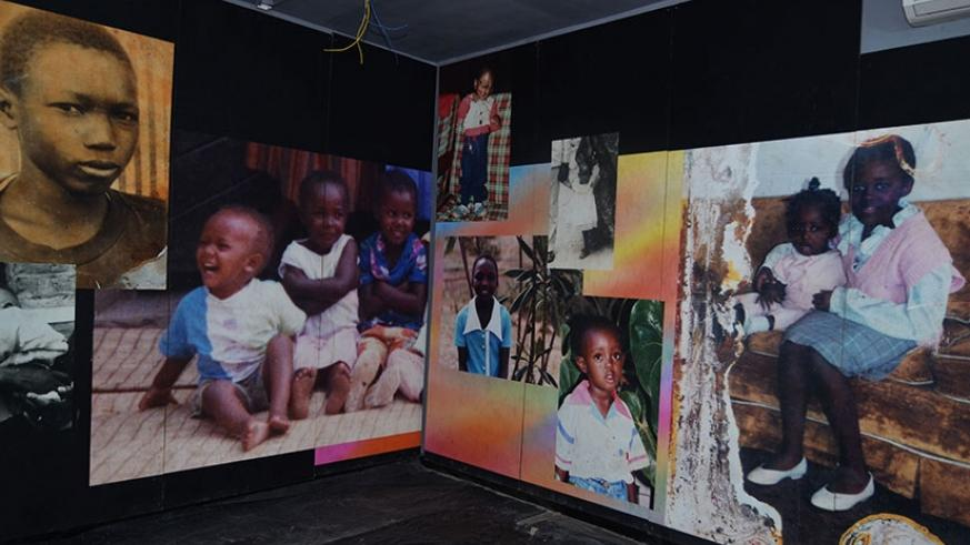 Photos of children killed at Murambi in Nyamagabe during the 1994 Genocide against the Tutsi. (File)