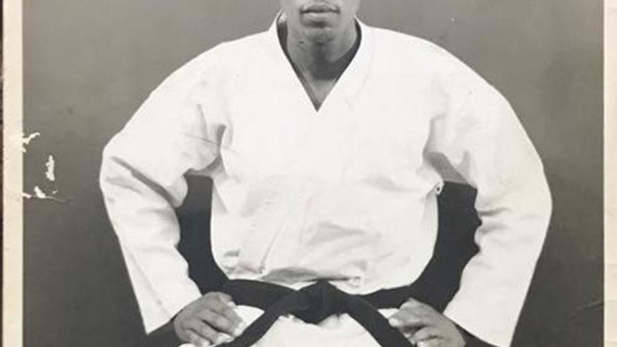 Sayinzoga, seen here during the 1970s as a young karateka. Sayinzoga passed away on Sunday and will laid to rest today. (Courtesy)