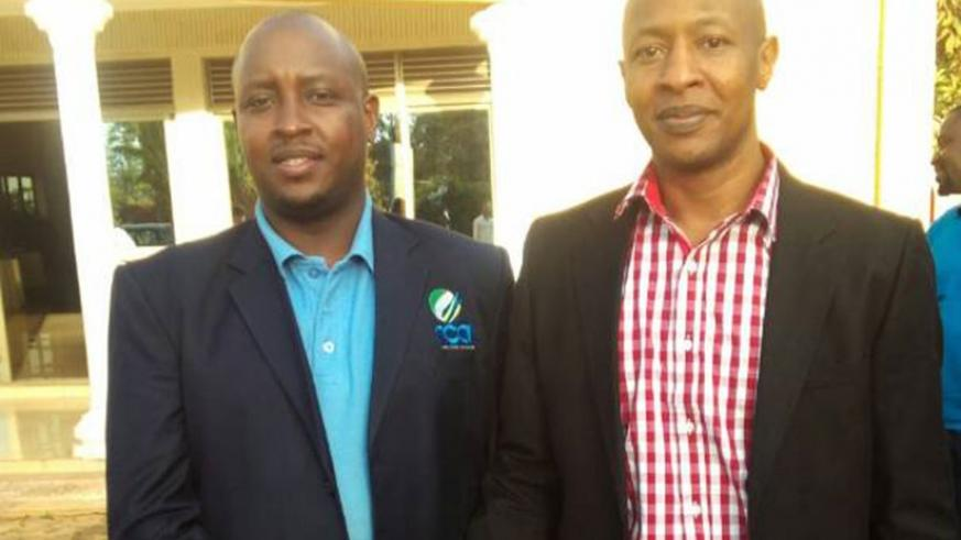 Eddie Balaba (R) has been elected the new president of Rwanda Cricket Association (RCA) to replace Charles Haba (L), who stepped down after 17 years at the helm. P. Kabeera
