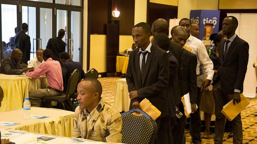 Graduates seek opportunities during last year's Job Day. Several organisations took part in the event. (File)