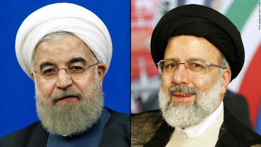 Rouhani (L) and his chief election rival Ebrahim Raisi. / Internet photo
