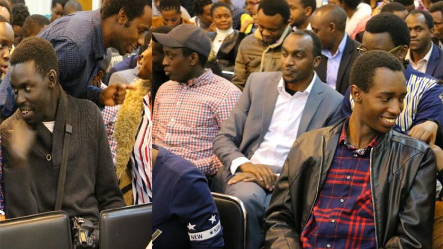Some members of the Rwandan community in China at the embassy in Beijing at a past event . Courtesy.