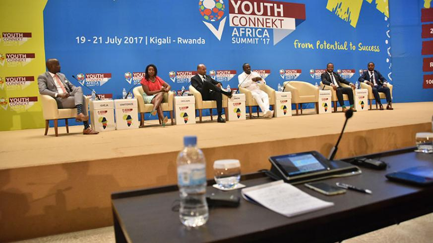 Guillaume Habarugira launched the website at the recent Youth Connekt Africa Summit 2017 in Kigali where he was a panelist. / File