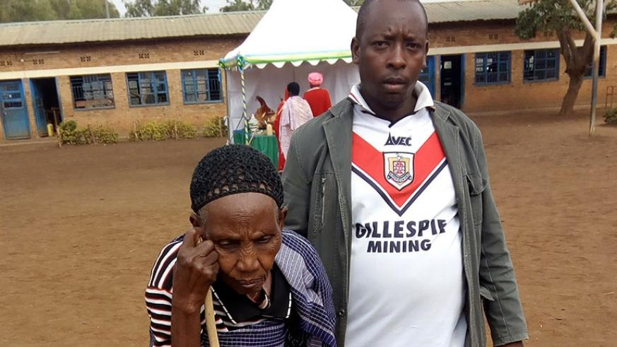 Nyiramakwikwi, an elderly citizen, could not afford to miss exercising her civic right yesterday. Steven Muvunyi.