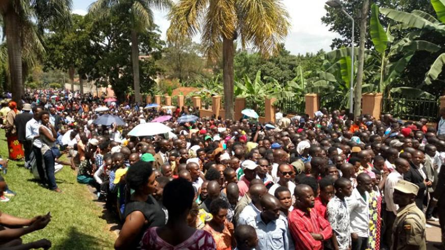 Rwandans in Uganda turned up in big numbers to cast their vote on Thursday. / File