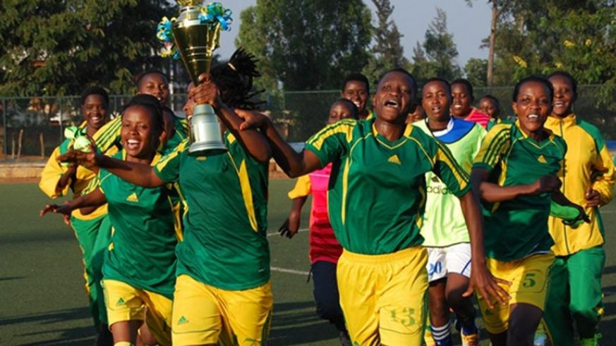 AS Kigali, the women's league champions, received Rwf1 million compared to their male counterparts Rayon Sports, who got over Rwf40m. File photo.