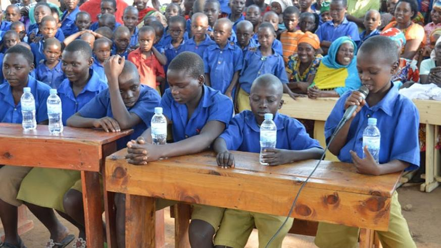 Pupils during a Debate session. It's important to engage learners in activities that promote creative thinking and sharing of ideas