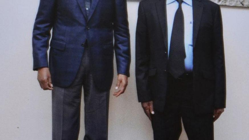 Nyabutsitsi paused with President Kagame when they met in January last year. / Courtesy