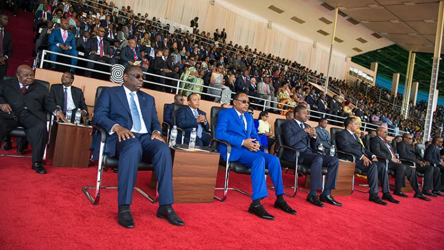 President Kagame's inauguration was attended by more than 20 African Heads of State, former African heads of state, among other dignitaries from across the globe. / Village Urugwiro