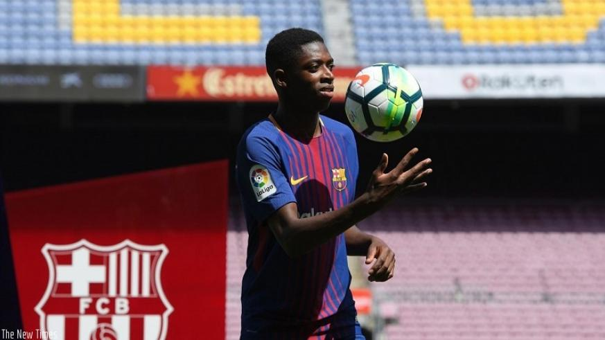 Dembele underwent his medical on Monday before sealing his move from Borussia Dortmund. Net photo.