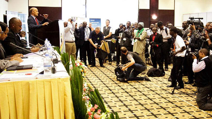Journalists covering a past event in Kigali. / File photo