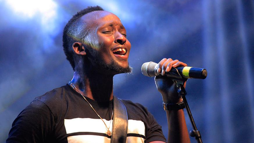 It was an emotional night for the 27-year-old R&B singer Meddy. (Photos by Sam Ngendahimana)