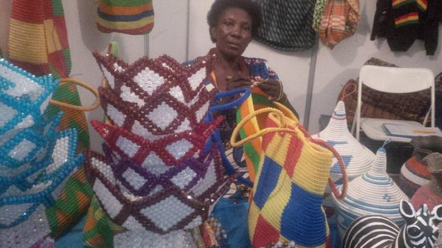 Nyirabanyaga at the showdroung in Gikondo. She has over the years seen RITF evolve to what it is today. / Joan Mbabazi.