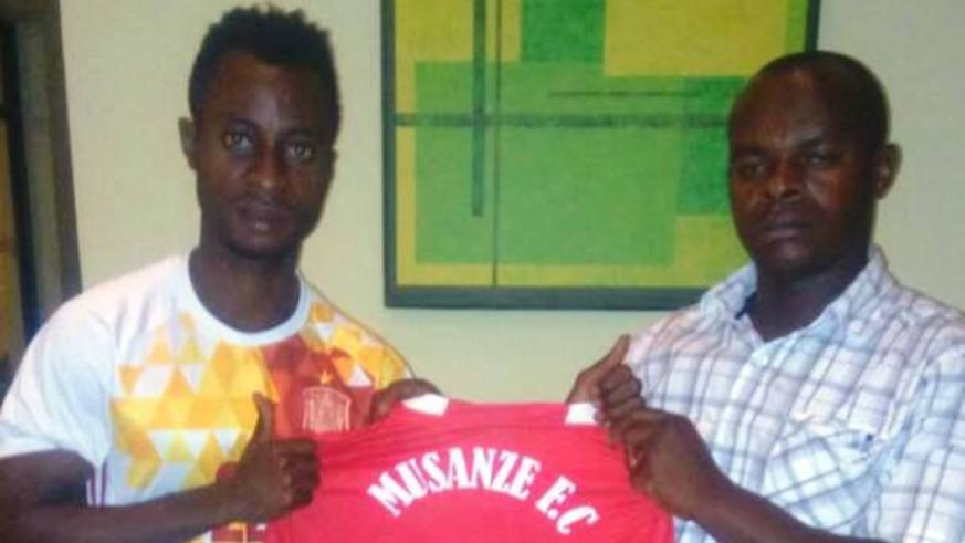 Ghanaian striker Leslie Lamptey will wear shirt 11 for Musanze FC. Courtesy