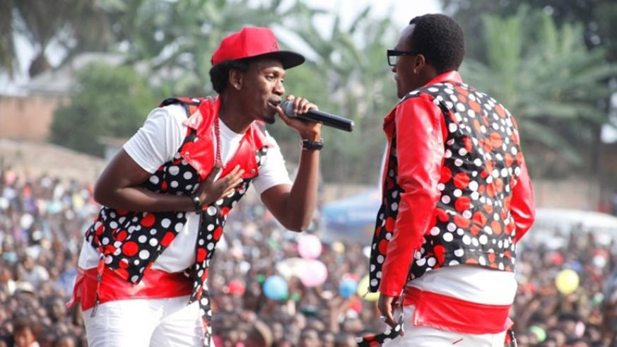 R&B duo of TMC (L) and Platini perform at a recent concert. File.