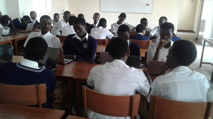 Students in a smart classroom. The teachers not able to access the internet or a computer  can send their updated information through schools with smart classes .  (Lydia Atieno)