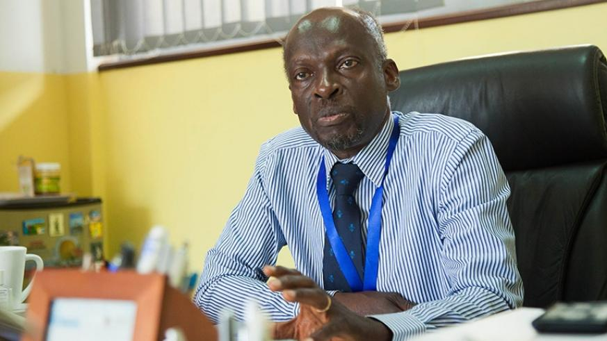 Prof. Ijumba during a past interview with The New Times. (Nadege Imbabazi)
