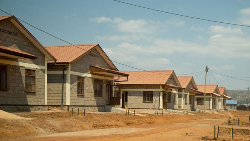 Some of the model settlements constructed for vulnerable citizens in Rweru Sector, Bugesera District. (Timothy Kisambira)