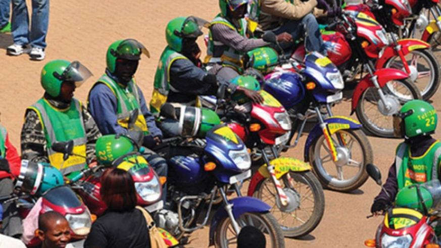 Taxi-motos at a stage in Kigali (File)