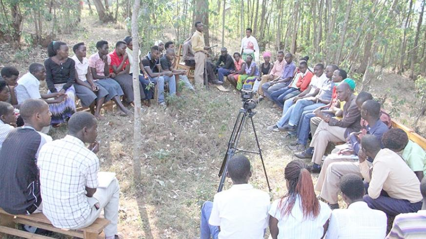 Youth having discussions in a safe place.