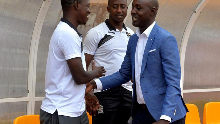 Mulisa and Karekezi are best friends and never played against each other as players but instead played together for both APR and Amavubi in the 2000s. / Courtesy