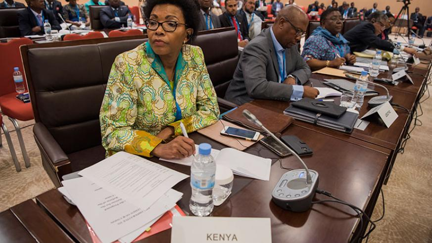 Delegates at the AU reforms consultative meeting in Kigali recently. / Village Urugwiro