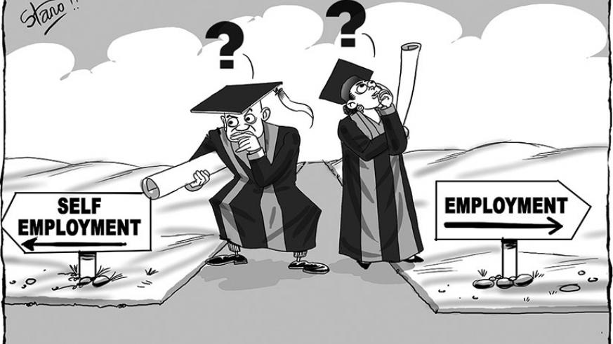 Most graduates usually find themselves in a dilemma on whether to seek a job or go into self employment