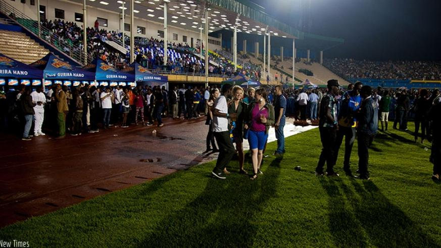 Revellers at 2014 Guma Guma competition final in Petit Stade in Remera. The entertainment sub-sector still has many investment opportunities. / File