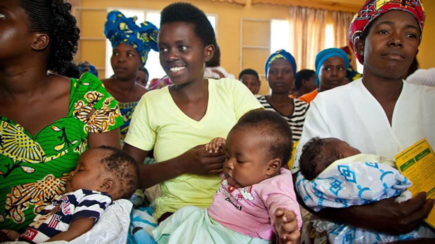 Mothers await to be attended to at Busanza Health Centre in Kanombe. / File
