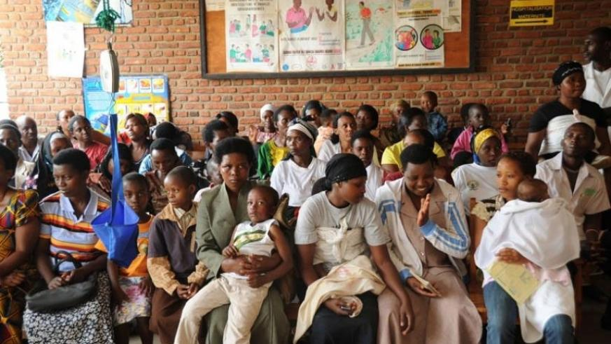 Patients at Kicukiro Health Centre await service. / File